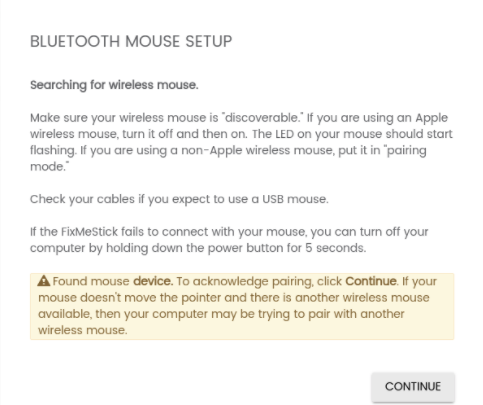 My Keyboard and/or Mouse Won't Pair During the Scan – FixMeStick Support